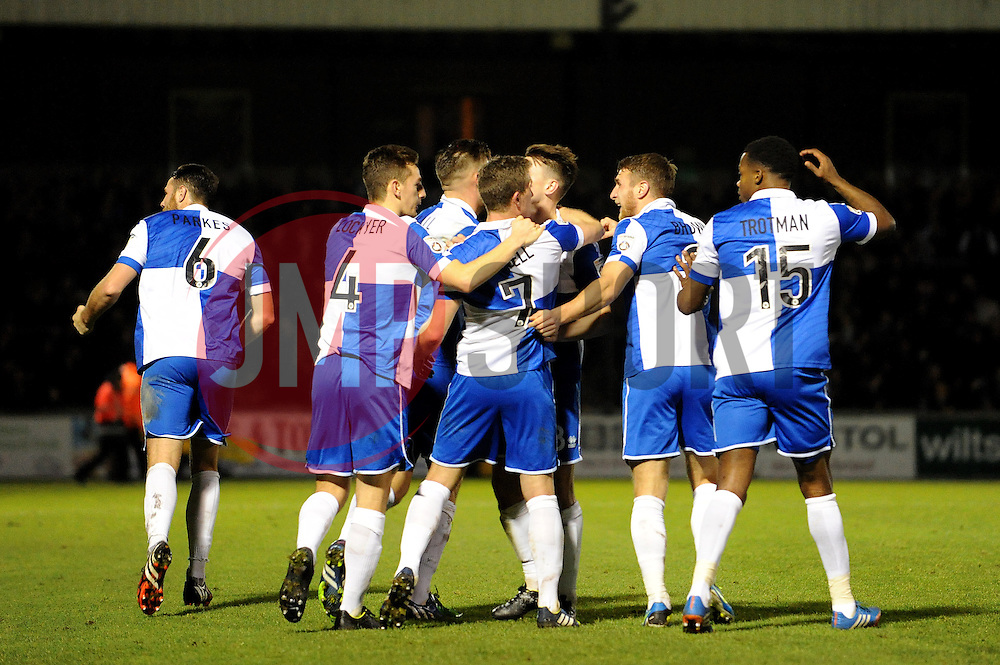 Bristol Rovers celebrate - Photo mandatory by-line: Neil Brookman/JMP - Mobile: 07966 386802 - 19/12/2014 - SPORT - football - Bristol - Memorial Stadium - Bristol Rovers v Gateshead  - Vanarama Conference