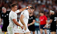 Rugby Union - 2019 Rugby World Cup - Semi-Final: England vs. New Zealand<br /> <br /> Henry Slade congratulates Mark Wilson of England after he wins the ball back at International Stadium Yokohama, Kanagawa Prefecture, Yokohama City.<br /> <br /> COLORSPORT/LYNNE CAMERON