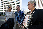Andrea Furlong holds a photograph of her sister Nicola as she and her father Andrew and mother Angela for the second day of proceedings in the case of Richard Hinds, who is accused of murdering Nicola last May, in Tokyo, Japan on 05 March 2013. Photographer: Robert GilhoolyAndrea Furlong holds a photograph of her sister Nicola as she and her father Andrew and mother Angela arrive at the Tokyo District Court for the second day of proceedings in the case of Richard Hinds, who is accused of murdering Nicola last May, in Tokyo, Japan on 05 March 2013. Photographer: Robert Gilhooly