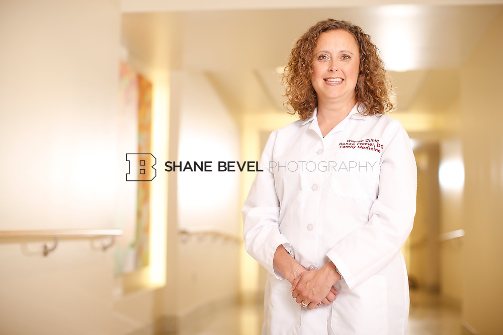 5/28/15 4:15:05 PM -- Dr. Renee Frenier of Saint Francis Health System poses for a portrait for the 2015 Advertising Campaign. <br /> <br /> Photo by Shane Bevel