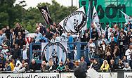 FODBOLD: FC Helsingør fans før kampen i ALKA Superligaen mellem FC Helsingør og OB den 24. juli 2017 på Helsingør Stadion. Foto: Claus Birch