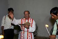 baptism indians. French father  M. Chanteau, in Chenaloh  Chiapas  Mexico    .  .Chenaloh, baptême des indiens par le père français Michel Chanteau  Chiapas  Mexique  .    L1242  /  R00110  /  P117045