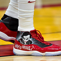 Mar 29, 2018; Miami, FL, USA; A detail shot of Miami Heat center Hassan Whiteside (21) shoes during the first half of an NBA game against the Chicago Bulls at American Airlines Arena. Mandatory Credit: Steve Mitchell-USA TODAY Sports