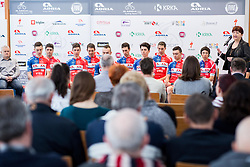 Mojca Novak during press conference of KK Adria Mobil Cycling Club before new season 2018, on February 22, 2018 in Novo mesto, Slovenia. Photo by Vid Ponikvar / Sportida