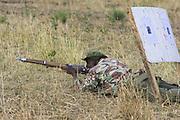 Mara Conservancy ranger going through training course set up by security consultant Ridgeback, Inc.<br /> Masai Mara Conservancy, Kenya