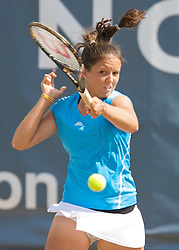 NOTTINGHAM, ENGLAND - Saturday, June 13, 2009: Laura Robson (GBR) in action on day three of the Tradition Nottingham Masters tennis event at the Nottingham Tennis Centre. (Pic by David Rawcliffe/Propaganda)