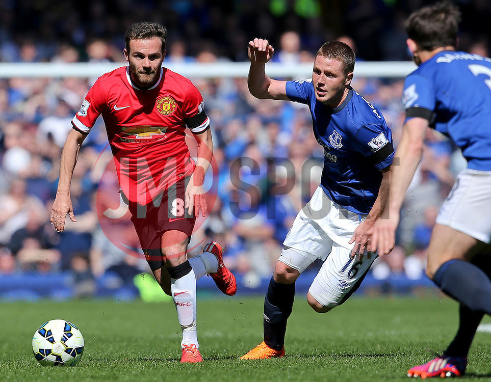 Juan Mata of Manchester United attacks - Photo mandatory by-line: Matt McNulty/JMP - Mobile: 07966 386802 - 26/04/2015 - SPORT - Football - Liverpool - Goodison Park - Everton v Manchester United - Barclays Premier League