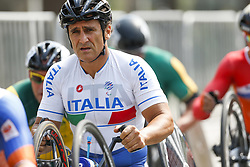 September 15, 2016 - Rio De Janeiro, Rio de Janeiro, Brazil - Alessandro Zanardi of Italy reacts after competing in the Men's Road Race H5 on day 8 of the Rio 2016 Paralympic Games at the Olympic Aquatic Stadium on September 15, 2016 in Rio de Janeiro, Brazil. (Credit Image: © Mauro Ujetto/NurPhoto via ZUMA Press)