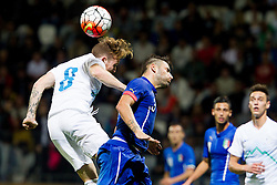 Dino Hotic of Slovenia during football match between U21 National Teams of Slovenia and Italy in 4th Round of UEFA 2017 European Under-21 Championship Qualification on October 8, 2015 in stadium Bonifika, Koper / Capodistria, Slovenia. Photo by Urban Urbanc / Sportida