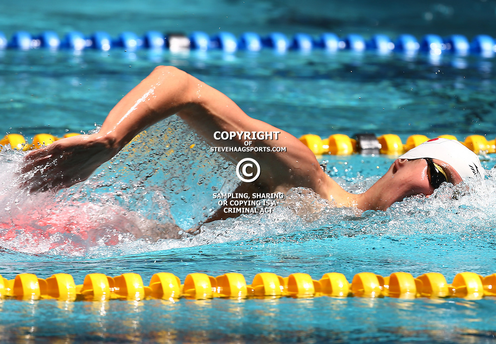 DURBAN, SOUTH AFRICA, February 6 2016 - Matthew Meyer Winner of the Men 1500 LC M  Freestyle during Day 3  the second&nbsp;leg of the 2016 South African Swimming Grand Prix series at the  Kings Park Swimming Pool Durban South Africa. (Photo by Steve Haag)<br /> Images for social media must have consent from Steve Haag