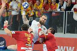 Horak Pavel of Czech Republic during handball match between National teams of Macedonia and Czech Republic on Day 6 in Main Round of Men's EHF EURO 2018, on January 23, 2018 in Arena Varazdin, Varazdin, Croatia. Photo by Mario Horvat / Sportida