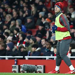 Jack Wilshere of Arsenal warms up during Arsenal vs Huddersfield, Premier League, 29.11.17 (c) Harriet Lander | SportPix.org.uk