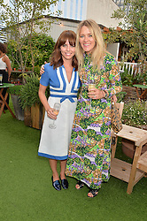 Left to right, OPHELIA LOVIBOND and EDITH BOWMAN at a vintage fashion pop-up evening hosted by Dawn O'Porter at The Gardening Society, John Lewis, Oxford Street on 27th July 2016.