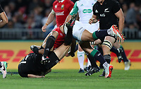 Rugby Union - 2017 British & Irish Lions Tour of New Zealand - First Test: New Zealand vs. British & Irish Lions<br /> <br /> Sonny Bill Williams of The All Blacks is tackled by Ben Te'o of The British and Irish Lions at Eden Park, Auckland.<br /> <br /> COLORSPORT/LYNNE CAMERON