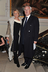 LORD & LADY MYNERS at a private view to celebrate the opening of the Royal Academy's exhibition of work by David Hockney held at The Royal Academy, Burlington House, Piccadilly, London on 17th January 2012.