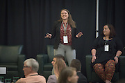 Jennifer Vance speaks at the 2016 Schey Sales Symposium during the Student TED Talk in Baker Center on November 3, 2016.