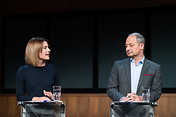 "20.03.2019, Radio Kulturhaus, Wien, AUT, Ö1, Sendung ""Klartext"" zur Europawahl 2019, im Bild EU-Spitzenkandidatin Claudia Gamon (NEOS) und EU-Spitzenkandidat Andreas Schieder (SPÖ) // during political discussion of the Austrian Broadcasting Corporation according to EU elections 2019 in Vienna, Austria on 2019/03/20, EXPA Pictures © 2019, PhotoCredit: EXPA/ Michael Gruber"
