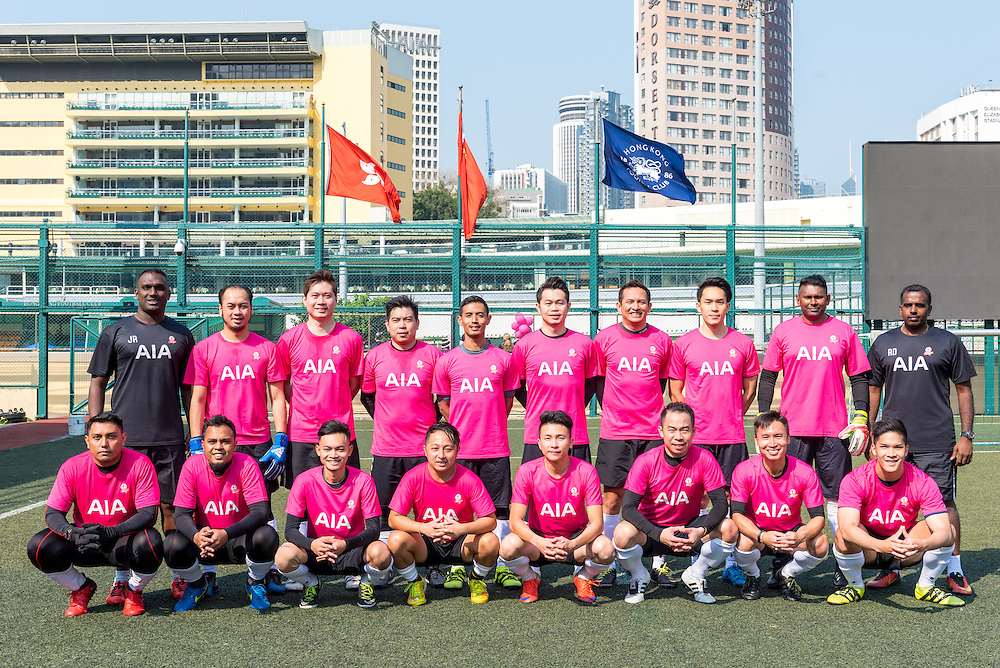 Team line up during the Training Session for  AIA Championship 2017 at Hong Kong Football Club on March 02, 2017 in Hong Kong. <br /> (Photo by Tommy Tang via MozImages)