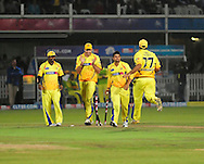 Suresh Raina celebrates another wicket during match 13 of the Airtel CLT20 between The Superkings and the Victorian Bushrangers held at St Georges Park in Port Elizabeth on the 18 September 2010..Photo by: Deryck Foster/SPORTZPICS/CLT20