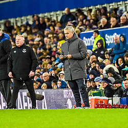 Jose Mourinho manager of Manchester United during the Premier League match between Everton and Manchester United, Goodison Park, Monday 1st January 2018<br /> (c) John Baguley | SportPix.org.uk