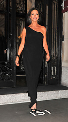 (UK RIGHTS ONLY) Actress Catherine Zeta Jones looking stunning in a black one shoulder dress en route to The David Letterman Show in New York, USA. 10/01/2013<br />