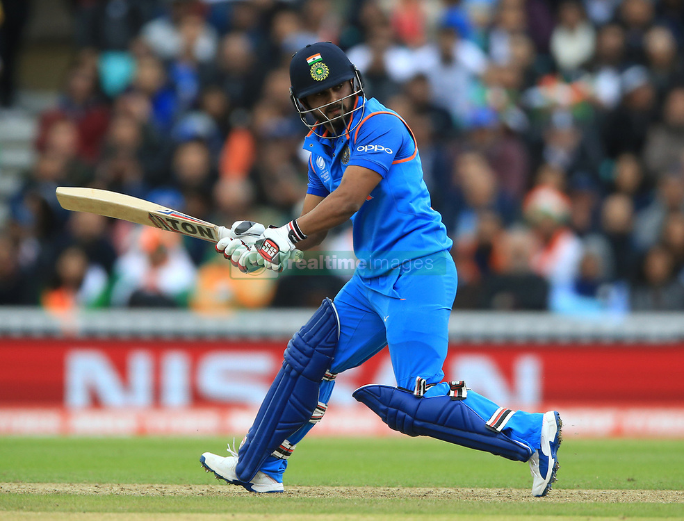India's Kedar Jadhav during the ICC Champions Trophy, Group B match at The Oval, London. PRESS ASSOCIATION Photo. Picture date: Thursday June 8, 2017. See PA story CRICKET India. Photo credit should read: Nigel French/PA Wire. RESTRICTIONS: Editorial use only. No commercial use without prior written consent of the ECB. Still image use only. No moving images to emulate broadcast. No removing or obscuring of sponsor logos.