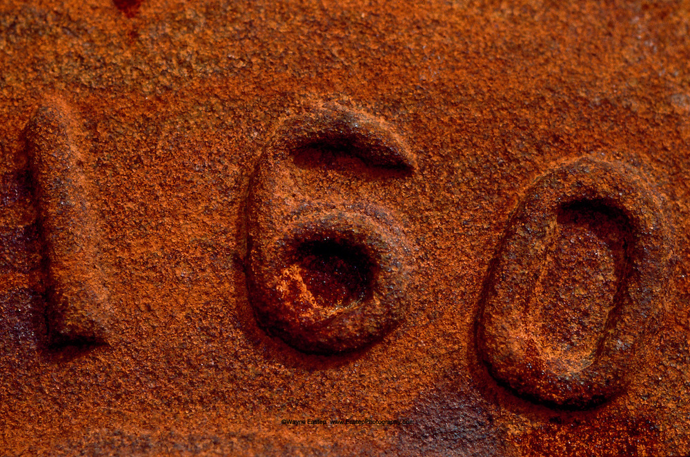 Detail of number on steel train wheel, Grand Trunk Railroad - HOK