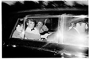 Benjie, Natasha and Lady Annabel in a car leaving John Aspinall's party 1981© Copyright Photograph by Dafydd Jones 66 Stockwell Park Rd. London SW9 0DA Tel 020 7733 0108 www.dafjones.com