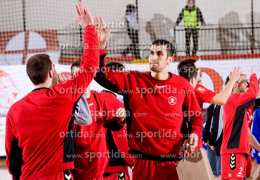Janko Bozovic of Slovan  during the 1/ 8 Men's European Handball Challenge Cup match between RD Slovan, Slovenia and Ystads IF, Sweden, on February 21, 2009 in Arena Kodeljevo, Ljubljana, Slovenia. Slovan defeated Ystads 37-27 and qualified to quarterfinals. (Photo by Vid Ponikvar / Sportida)