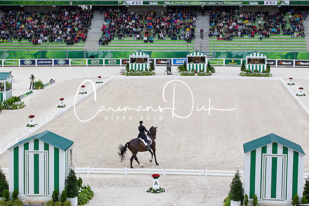 Mikala Münter Gundersen, (DEN), My Lady - Grand Prix Team Competition Dressage - Alltech FEI World Equestrian Games™ 2014 - Normandy, France.<br /> © Hippo Foto Team - Leanjo de Koster<br /> 25/06/14