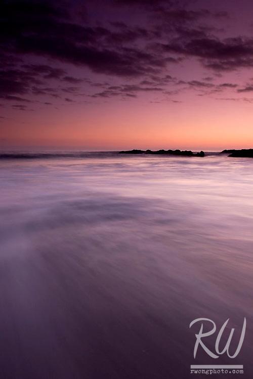 Incoming Wave at Dusk, Laguna Beach, California