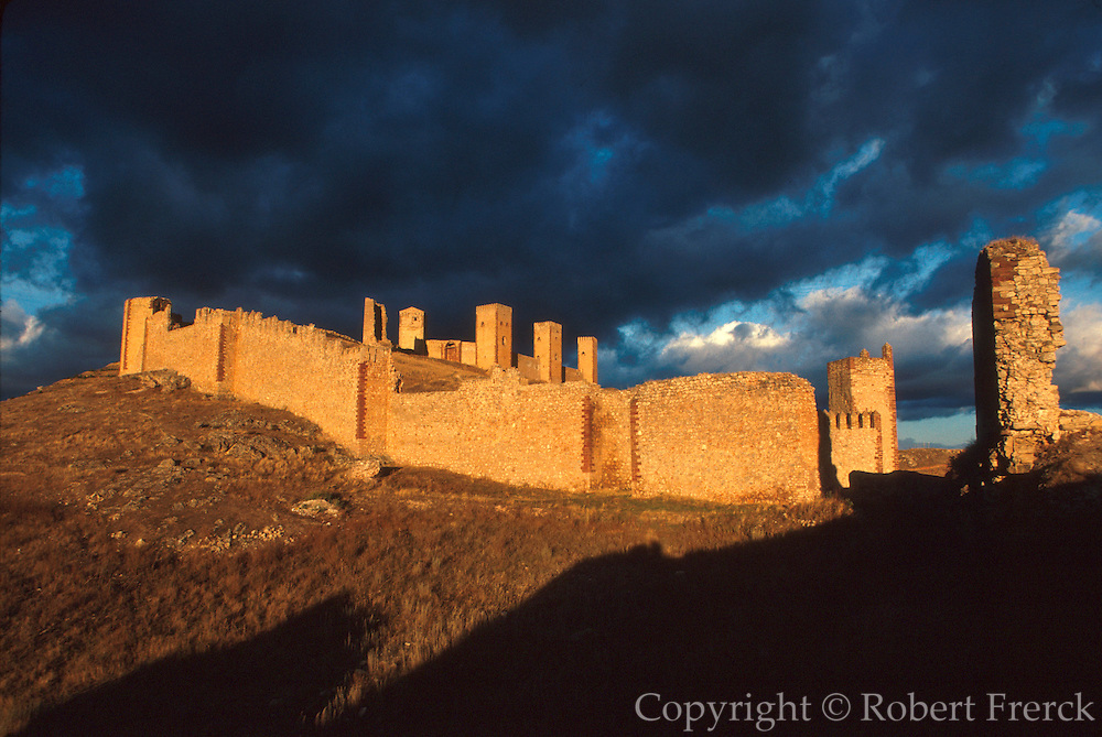 SPAIN, NORTH, ARAGON 'Torre de Aragon', a 12th.century castle above the town of Molina de Aragon, south of Zaragoza