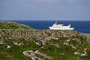 Sylt, Germany. Hörnum-Odde, Sylt's Southern tip. Adler VI ferry ship.