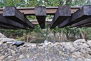 Distraction of Conrail by Hurricane Irene, Sloatsburg NY, USA