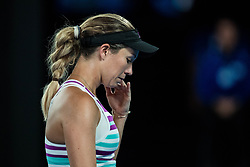 January 24, 2019 - Melbourne, VIC, U.S. - MELBOURNE, VIC - JANUARY 24: DANIELLE COLLINS (USA) during day ten match of the 2019 Australian Open on January 24, 2019 at Melbourne Park Tennis Centre Melbourne, Australia (Photo by Chaz Niell/Icon Sportswire (Credit Image: © Chaz Niell/Icon SMI via ZUMA Press)