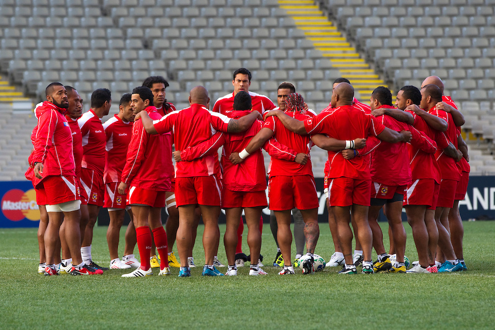 Tonga's Rugby World Cup Team captain's run prior to the opening match against New Zealand, Eden Park, , Auckland, New Zealand, Thursday, September 08, 2011.  Credit:SNPA / David Rowland