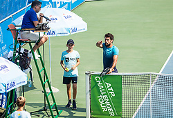 Blaz Pipan and Federico Gaio (ITA) in action during Day 5 at ATP Challenger Zavarovalnica Sava Slovenia Open 2018, on August 7, 2018 in Sports centre, Portoroz/Portorose, Slovenia. Photo by Vid Ponikvar / Sportida