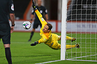 Football - 2019 / 2020 EFL Cup - Round 2 -AFC Bournemouth vs. Crystal Palace <br /> <br /> Bournemouth's Asmir Begovic makes the final save in the penalty shoot out sudden death for Bournemouth to win 11-10 in the shoot out during the EFL Cup tie at the Vitality Stadium (Dean Court) Bournemouth  <br /> <br /> COLORSPORT/SHAUN BOGGUST