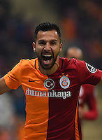 Turkey superlig football match between Galatasaray and Akhisar Belediyespor at Turk Telekom Arena in Istanbul on December 20, 2015.<br /> Final Score: Galatasaray 3 - Akhisar Belediyespor 2<br /> Pictured: Yasin Oztekin of Galatasaray.