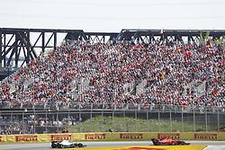 June 9, 2019 - Montreal, Canada - Motorsports: FIA Formula One World Championship 2019, Grand Prix of Canada, ..#5 Sebastian Vettel (GER, Scuderia Ferrari Mission Winnow), #44 Lewis Hamilton (GBR, Mercedes AMG Petronas Motorsport) (Credit Image: © Hoch Zwei via ZUMA Wire)