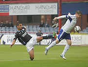 Luka Tankulic comes close to opening the scoring - Dundee v Peterhead, League Cup at Dens Park<br /> <br />  - &copy; David Young - www.davidyoungphoto.co.uk - email: davidyoungphoto@gmail.com