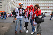 Sevilla fans before the Europa League Final match between Liverpool and Sevilla at St Jakob-Park, Basel, Switzerland on 18 May 2016. Photo by Phil Duncan.