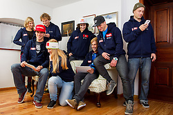 during Media day of Ski Association of Slovenia before new winter season 2013/14 on October 10, 2013 in Hisa Kulinarike Jezersek, Zg. Brnik, Slovenia. (Photo by Vid Ponikvar / Sportida)