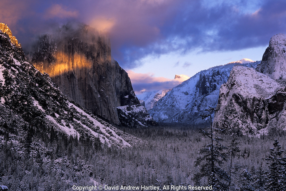 Clearing storm in Yosemite Valley, Yosemite National Park, California