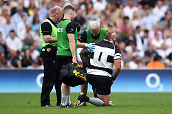 Joe Marler of the Barbarians receives treatment on an injury - Mandatory byline: Patrick Khachfe/JMP - 07966 386802 - 02/06/2019 - RUGBY UNION - Twickenham Stadium - London, England - England XV v Barbarians - Quilter Cup International
