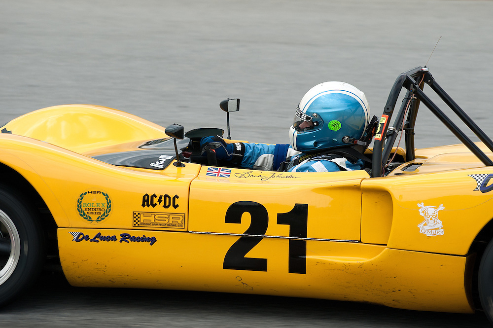 October 28-30 2011; HSR Savannah Speed Classic; Brian Johnson, Frontman of AC/DC in his 1970 Royale RP4 at the Grand Prize of America Track, Hutchinson Island, Savannah, Georgia USA ;  Photo Credit: Scott LePage-MotorRacingPhoto  © 2011 Scott LePage  http://MotorRacingPhoto.com