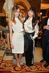 Left to right, JADE WILLIAMS and ZARA MARTIN at the LDNY Fashion Show and WIE Award Gala sponsored by Maserati held at The Goldsmith's Hall, Foster Lane, City of London on 27th April 2015.