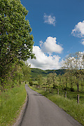 A scenic West Virginia country road in spring.  Sweet Springs, West Virginia May 2011