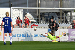 Sophie Baggaley of Bristol City Women is defeated as Chelsea Ladies score - Mandatory by-line: Paul Knight/JMP - 15/05/2018 - FOOTBALL - Stoke Gifford Stadium - Bristol, England - Bristol City Women v Chelsea Ladies - FA Women's Super League 1
