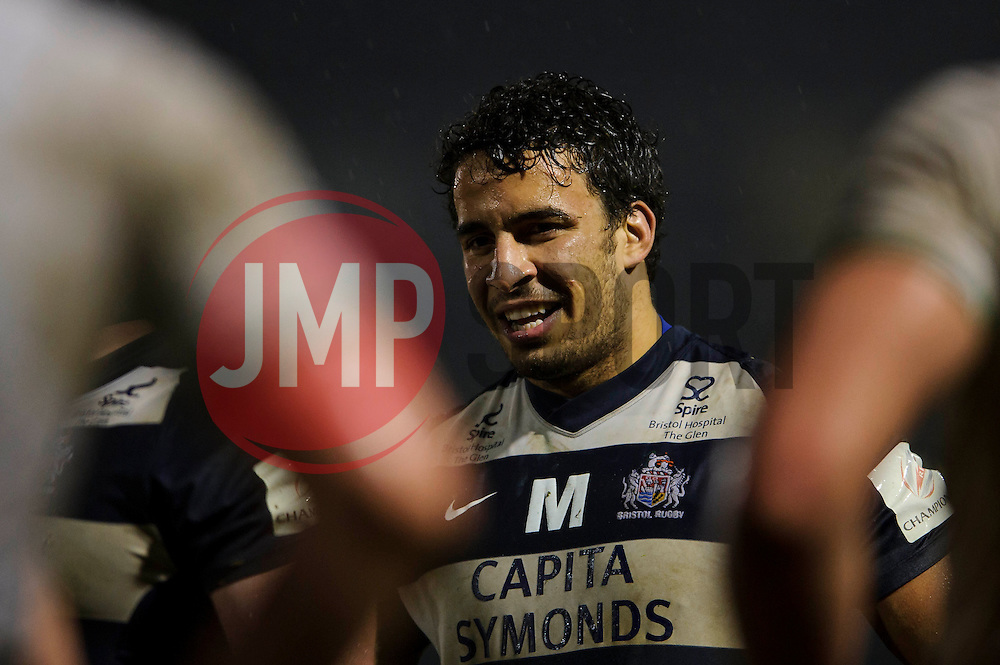 Bristol replacement (#21) Ruki Tipuna looks on at the breakdown during the second half of the match - Photo mandatory by-line: Rogan Thomson/JMP - Tel: Mobile: 07966 386802 25/01/2013 - SPORT - RUGBY - Memorial Stadium - Bristol. Bristol v Leeds Carnegie - RFU Championship.